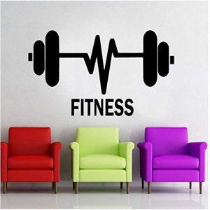 vinilo fitness mancuerna