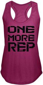 camiseta mujer one more rep