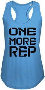 camiseta mujer azul one more rep