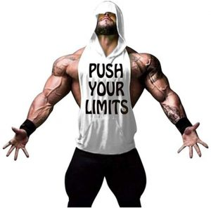 camiseta gym hombre push your limits blanco