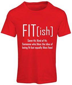 camiseta mujer gym roja fit