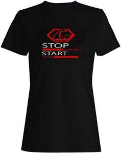 camiseta mujer gym stop start