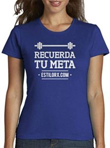 camiseta mujer gym recuerda tu meta