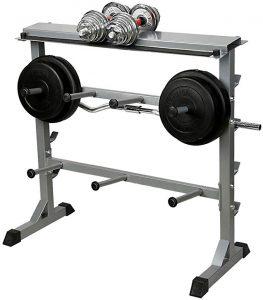 estante pesas gym casa