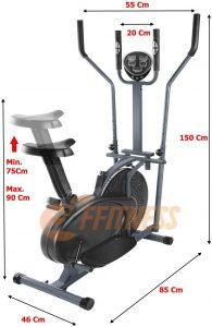Bicicleta elíptica con volante de inercia